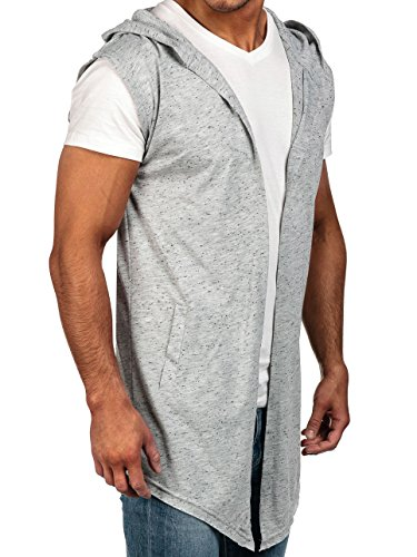 BOLF Mens Sweat à capuche Casual shirt Hommes 1A1 Gris