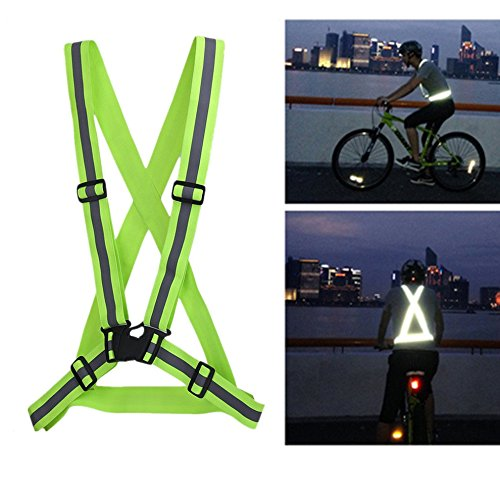Verkehr Nacht Arbeit Sicherheit Laufen Radfahren Sicherheit Reflektierende Weste Jacke (Farbe: grün)