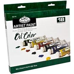 Royal & Langnickel OIL21-18 Assortiment de 18 Tubes de peinture à l'huile 18 x 21 ml