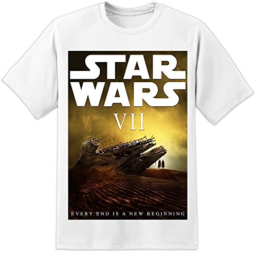 Image of Stars Wars VII - The Force Awakens Movie Poster T Shirt (S-3XL) Stormtrooper Vader Bobba Fett (Large)
