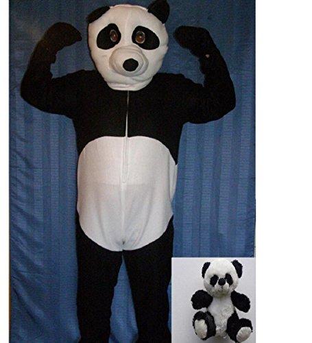 Kostüm Panda Schnee (Panda Bär Faschingskostüm Fastnacht Kostüm Karnevalskostüm Pandabär XXL + Mini)