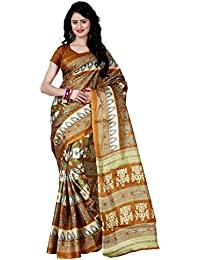Being Banarasi Women's Raw Silk Floral Print Saree Without Blouse Piece(1012_P)