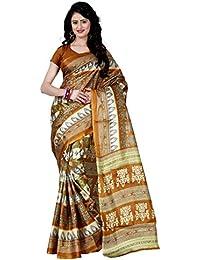 Being Banarasi Women's Raw Silk Floral Print Saree Without Blouse Piece(1012_P)