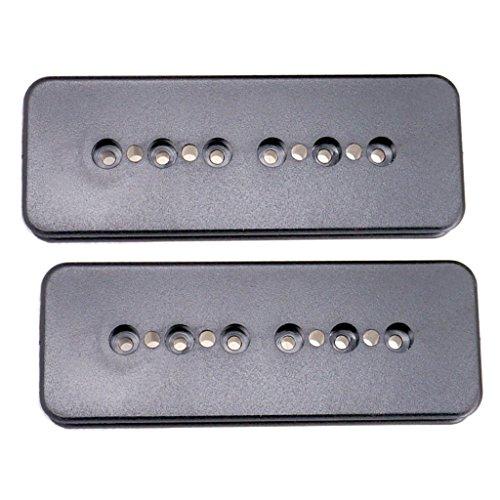 mm / 52mm Humbucker Pickup Cover für Gitarre - Schwarz (P90 Pickups Gitarre)