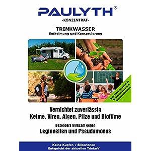 PAULYTH (0,5 Liter) – Trinkwasserentkeimung und Konservierung – Wundbehandlung – Keine Kupfer-/Silberionen – Entspricht…