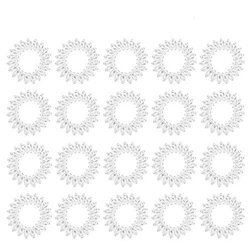 RosewineC 10 Stück Durchsichtige Haargummi, Transparent Elastisch Haarband Spirale Telefonkabel...