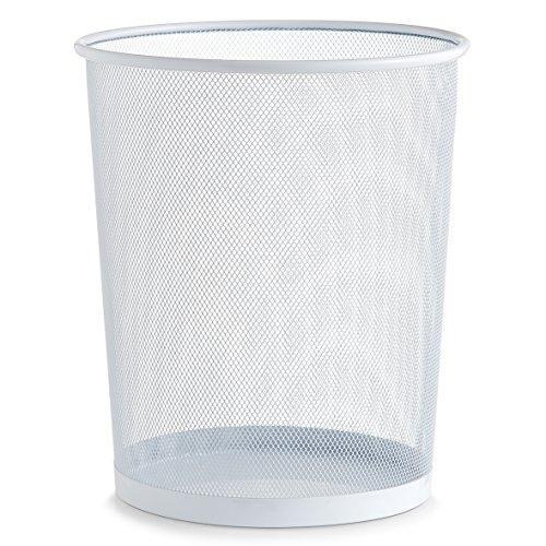 zeller-17724-papierkorb-mesh-weiss