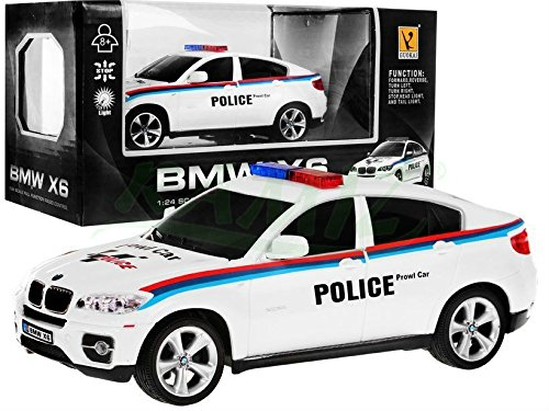 R/C Car BMW X6 Police Car 1:24 White, used for sale  Delivered anywhere in UK