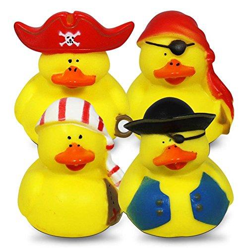 24 Stück Piraten Enten, 5 cm, Badeente, Gummiente, Mitgebsel, Kindergeburtsta... - 5 Stück Piraten