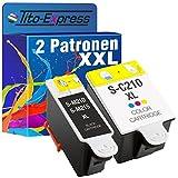 PlatinumSerie® Sparset 2x Tintenpatrone XL für Samsung 1x INK-M210/215 Black & 1x INK-C210 Color CJX-1000 CJX-1050W CJX-2000FW