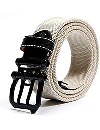 Cinturón De Lona De Los Hombres De Regalos Elegante Juventud La La De  Juventud De Los Hombres De Mediana Edad Hebilla Del Anillo Cinturón De… af8bf173fd0e