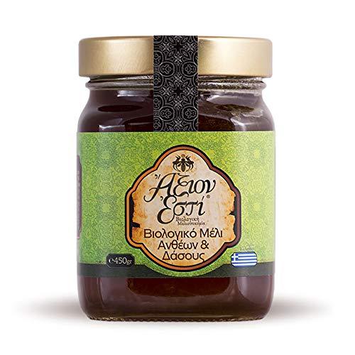 Bio Honig aus Griechenland   Wald- und Blütenhonig von Axion Esti (450 g)