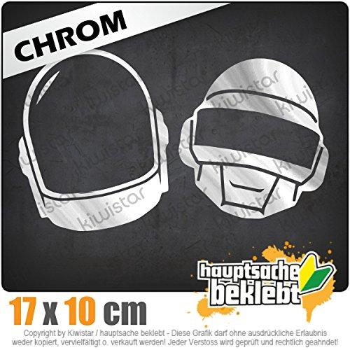 Homework 18 x 11 cm IN 15 FARBEN - Neon + Chrom! Sticker Aufkleber (Daft Punk-aufkleber)