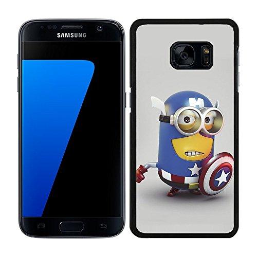 FUNDA CARCASA PARA SAMSUNG Galaxy S7 Edge DISEÑO MINION CAPITÁN AMÉRICA MOD.2