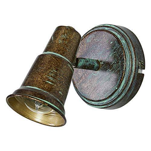 Lampenwelt Strahler'Arielle' dimmbar (Retro, Vintage, Antik) in Bronze aus Metall u.a. für...