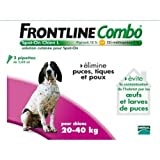 Merial Frontline Combo Chien Taille L 20-40 kg 4 Pipettes
