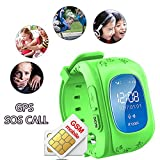 Hangang GPS Tracker pour enfants Smartwatch Enfants SOS emplacement Finder Locator périphérique tracker pour enfants anti perdu Smart Watch podomètre GPS Tracker enfants Q50