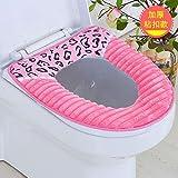 BAOZIV587 Siège de toilette coussin de siège de toilette étanche universel siège de toilette siège de toilette coussin de siège de toilette pâte siège de siège de la housse de toilette, bande de léopard bleu foncé