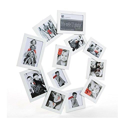 Pêle-mêle 12 photos spirale - Cadre multi photos - Blanc