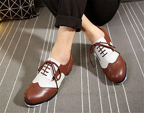 Chaussures Pour Hommes Faucet Dance Cuir Véritable Botte Semelle Souple Taille 38to43 Brown