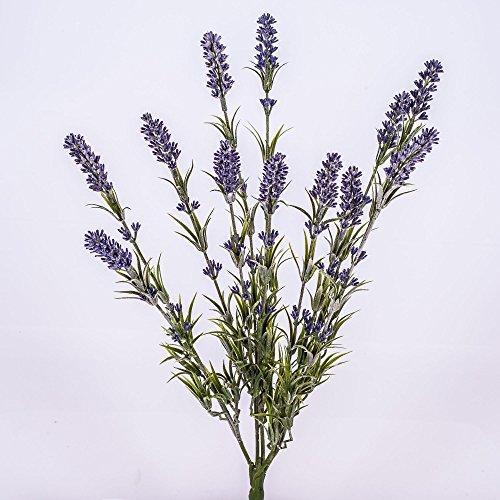 artplants Lavande artificielle sur piquet, 12 brins, 50 cm - lavande décoration/lavande fleur artificielle
