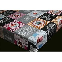 Cupcake Bakery Patchwork PVC Mantel Rectangular Protector De Mesa Cocina 200x 140cm