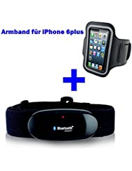 BLUETOOTH BRUSTGURT 4.0 + ARMBAND für iPhone 6+ / 6 plus oder 7+ / 7 plus für RUNTASTIC, RUNTASTIC PRO App