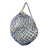 Double Hay Net Slow Feeder For Greedy Horses - Metal Ring Net Bag With Extra Strong Small Mesh Holes.Horse Accessories Haynet To Trickle Feed Haylage, Horse Treats & Soak Hay Bale