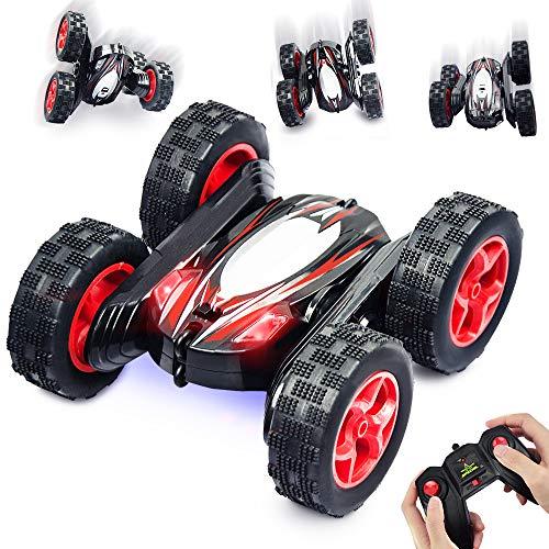 Nice2you Ferngesteuertes Auto, 2,4 GHz 360 ° Drehung RC Auto Offroad Auto High Speed Kinderspielzeug Doppelseitiges Fahrzeug mit Scheinwerfern für Kinder