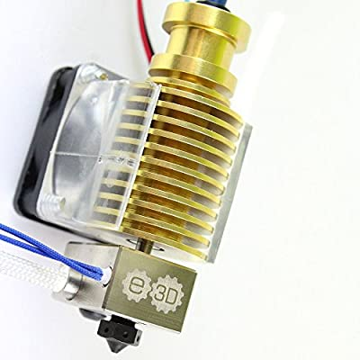 Genuine E3D V6 GOLD Limited Edition Hot End Hardened Steel Nozzle Prusa i3 Reprap 3D Printer Full Kit - 1.75mm (12v)
