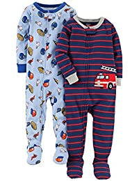 183cc937d1 carter s Baby Boys  2-Pack Cotton Footed Pajamas