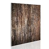 BANJADO Design Magnettafel | magnetische Pinnwand weiß | Metall Memoboard 50cm x 50cm mit Motiv Altes Holz