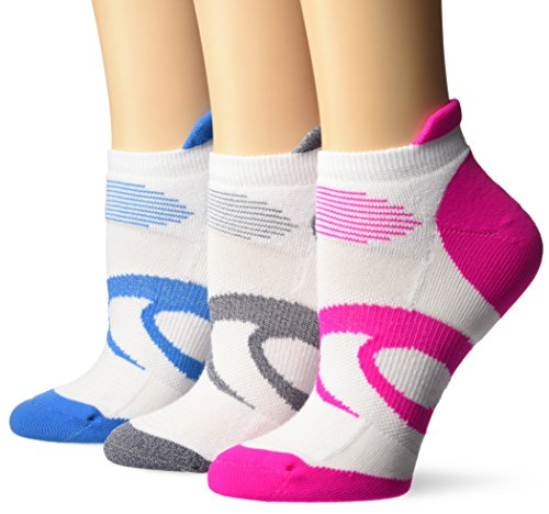 ASICS Women's Intensity Single Tab Running Socks (3 Pack), White, Small (Socken 3pk Tab)