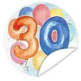 30. Geburtstag Aufkleber | 9,5cm groß | rund