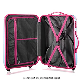"Travelhouse Executive Business Bag Luggage Travel Flight Case Suitcase New (28"", Blue & Rose) 5"