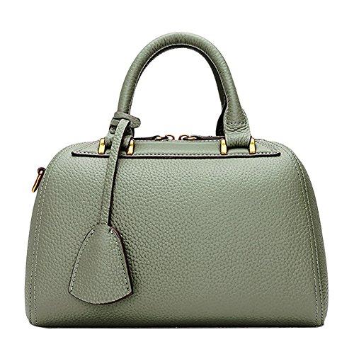 Mena Uk Sacchetti del messaggero del sacchetto di spalla della borsa del progettista di cuoio delle donne Army Green