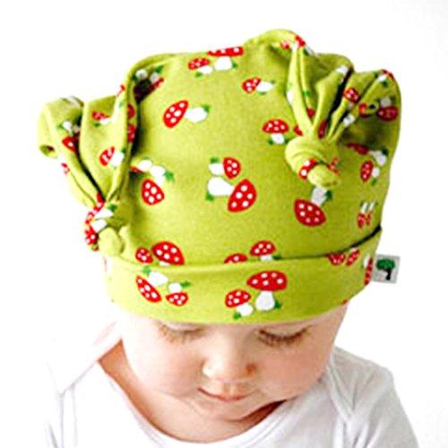 Green Knit Beanie Cap (Beanie Baby GAP Kind Kleinkind lange Ohren Rollkragen Cap Horn verknotet Baby Hut Tefamore (light Green))