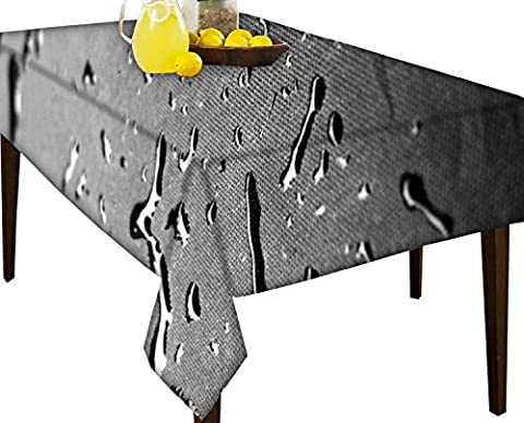 Drops Textur wasserabweisend Tischdecke Esstisch Cover Protector, multi, 60 x 80