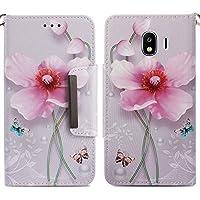 Handyhülle Samsung Galaxy J4 2018,HUDDU Blumen Schmetterling Muster Pink Schutzhülle Samsung J4 2018 Hülle Flip... preisvergleich bei billige-tabletten.eu