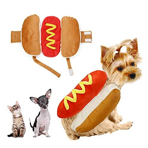 NIBESSER Hunde Kostüme Hundebekleidung Hot Dog Halloween Bekleidung Haustier Hunde - Hot Dog Kostüm Für Hunde