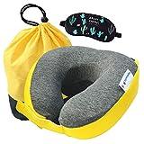 Cuscino cervicale per bambini, traspirante, rimovibile e lavabile, in memory foam Giallo Yellow taglia unica