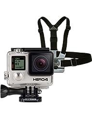 GoPro HERO4 Black Adventure Actionkamera (12 Megapixel, 41,0 mm x 59,0 mm x 29,6 mm) + GoPro Brustgurt Halterung (vertikale Schnellspannschnalle, Rändelschraube)