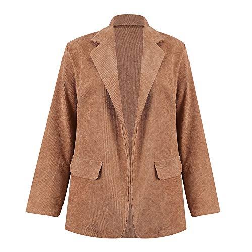 UFACE Femme Blazer Velours Col Revers Slim Fit Un Bouton Veste de Tailleur Manteau Printemps Automne Hiver