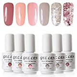 Vernis Gel Semi Permanent UV LED - Gellen Vernis à Ongles Nail Gel Soak off Manucure Kit 6×8ml #12