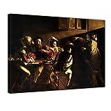 Bilderdepot24 Leinwandbild - Caravaggio - Berufung des Heiligen Matthäus - 80x60cm Einteilig - Alte Meister - Leinwandbilder - Bilder als Leinwanddruck - Bild auf Leinwand - Wandbild