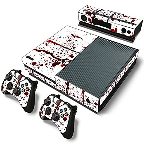 Stillshine Xbox ONE Design Folie Aufkleber für Konsole + 2 Controller + Kamera Sticker Skin Set (Blood)