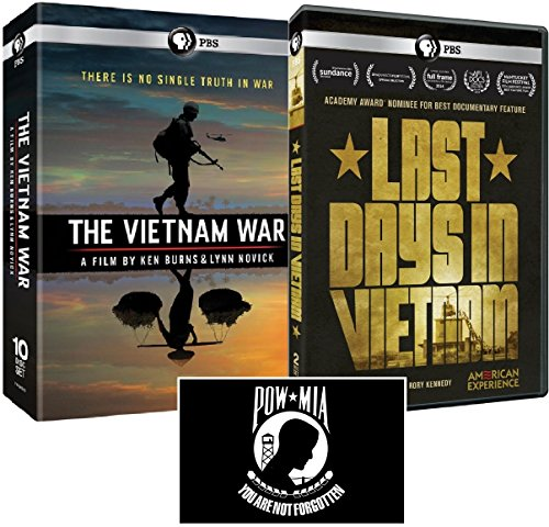 The Vietnam War: A Film by Ken Burns and Lynn Novick + American Experience: Last Days in Vietnam DVD Set with POW*MIA Decal