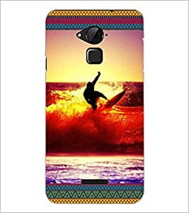 PrintDhaba Diving D-5699 Back Case Cover for COOLPAD NOTE 3 LITE (Multi-Coloured)