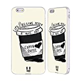Head Case Designs Life Kaffee Silber Rahmen Hülle mit Bumper aus Aluminium für Apple iPhone 6 Plus / 6s Plus