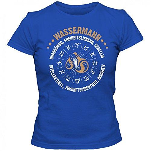 Sternzeichen Wassermann #2 Premium T-Shirt   AstrologieShirt   Horoskop   Unabhängig & Innovativ   Frauen   Shirt © Shirt Happenz Blau (Royalblue L191)